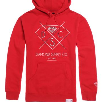 Diamond Supply Co DSC Pullover Hoodie - Mens Hoodie - Red