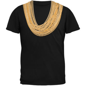 Gold Chains Black Youth T-Shirt