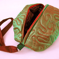 Iridescent Green Brain Clutch