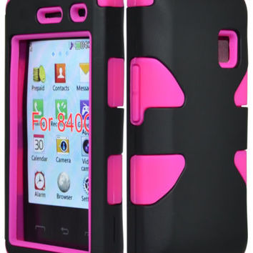 LG 840G Dynamic Tuff Hot Pink Hybrid Case  Black  Cover