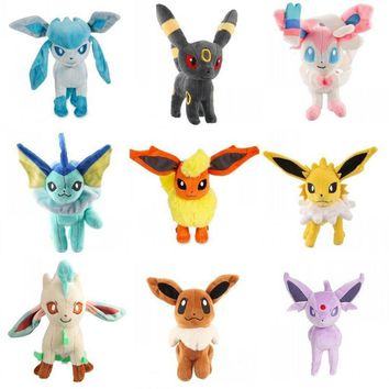 1 Piece Pokemon Evolution of Stand Eevee Sylveon Umbreon Leafe Plush