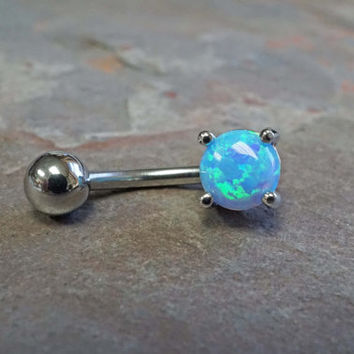 Opal Belly Button Rings Belly Button Jewelry
