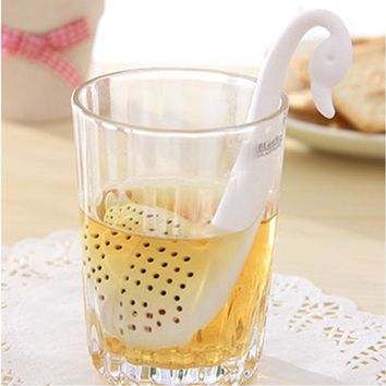 Modern Tea Tools Hotselling Novelty Tea Infuser Swan Loose Tea Strainer Herb Spice Filter Diffuser Dropshipping 519