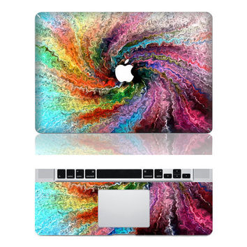 Colored Swirl  ----Macbook Decal Macbook Sticker Mac Decal  Apple Vinyl Decal for Macbook Pro / Macbook Air / iPad