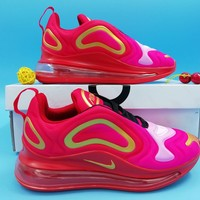 Nike Air Max 720 Fashion Women Men Casual Sneakers Running Sports Shoes Red/Pink Size 36-45