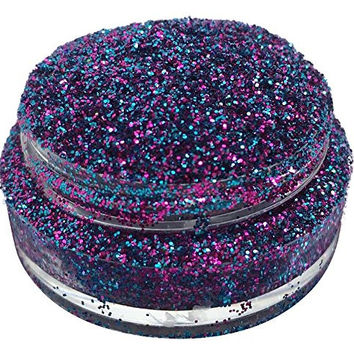 Lumikki Cosmetics Glitter Eye/Face/Lips/Nails Makeup - Blue & Purple Glitter - Holographic - AURORA BOREALIS - Super Pigmented & Rich Color! - Cruelty Free - 5G Volume/2.5G Weight Jar