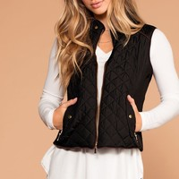 Vail Quilted Vest - Black