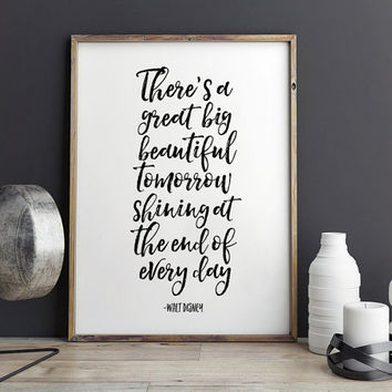 PRINTABLE Art,WALT DISNEY World,Walt Disney Quote,Bedroom Decor,