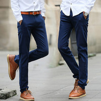 Solid Color Skinny Pants