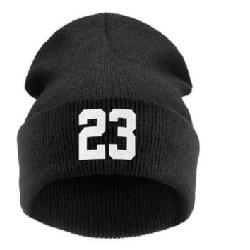 DCKL9 men winter Beanie '23' JORDAN BULLS SPORTS Men Women Basketball CAP Beanie Hat Hiphop