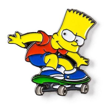 Free Skateboard Bart Simpson The Simpsons Enamel Pin Just Pay Shipping