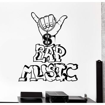 Vinyl Wall Decal Rap Music Teen Room Hip Hop Decor Stickers Unique Gift (ig4439)