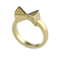 "Boy Meets Girl® x Roman Luxe ""Happy"" Little Bow Pinky Ring"
