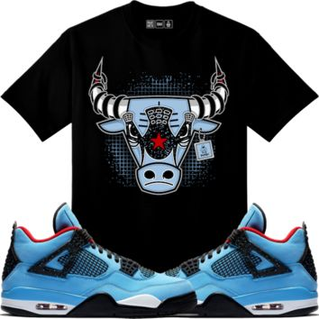 Jordan Retro 4 Cactus Jack Sneaker Tees Shirt - WAR BULLY