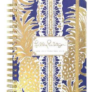 lilly pulitzer 17 month large agenda pineapple navy