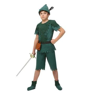 CREY6F Child Peter Pan Costume Jump Into A Life Of Adventure Neverland Forest Cosplay Clothing