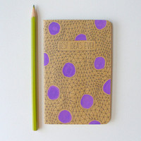 illustrated moleskine notebook - best ideas ever, polka dots, orchid