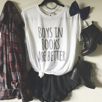 Boys In Books Are Better T-shirt & Tank Top