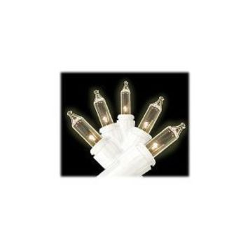 Gerson 600018-Set of 15 Clear commercial String Lights - White Wire-Steady Burning
