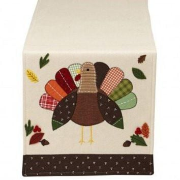 Turkey Applique Table Runner