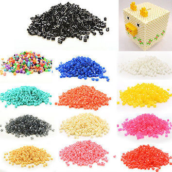 1000 X Mini  Beads Fuse DIY Beads for Handmaking Toys Pegboard 13 colours Fine