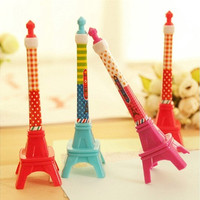 1pc Eiffel Tower Stereo Tower creative stationery design ballpoint pen