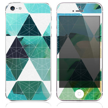 Triangle Ocean Skin for the iPhone 3gs, 4/4s, 5, 5s or 5c