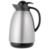 Thermos 34 Ounce Glass Vacuum Insulated Carafe, Brushed Stainless Steel