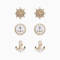 Epoxy Nautical 3pair Stud Set