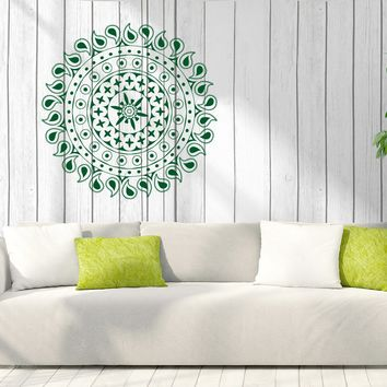 Vinyl Decal Enso Ornament Circle Mandala Yoga Studio Wall Sticker (n876)