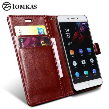 Oneplus X Case TOMKAS One Plus X Cover Wallet Flip Style PU Leather Cover Cases For Oneplus X Phone Bag Stand Design Card Holder