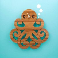 Bamboo Octopus Clock