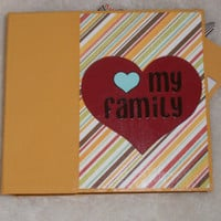 6x6 PreMade Family Chipboard Scrapbook Album