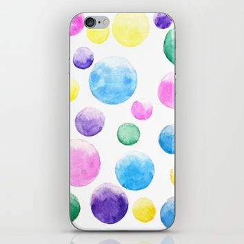 cheerful colorful bubbles iPhone & iPod Skin by Color And Color