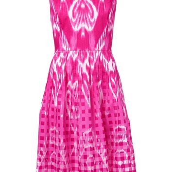 Oscar de la Renta ikat print dress