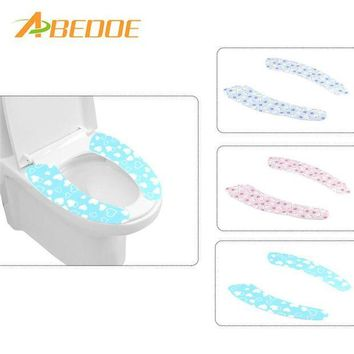 VONFC9 ABEDOE 1 pair Bathroom Warmer Toilet Seat Closestool Washable Soft Seat Cover Pad Cushion Warmer Seat Lid Cover Pad Toilet Seat