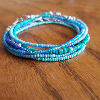 Mermaid Seed Bead Bracelet Bundle