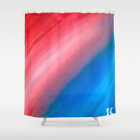 Strip of Light Shower Curtain by Sierra Christy Art