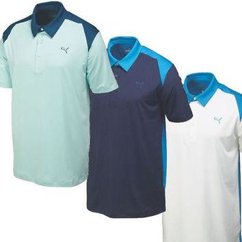 Licensed Golf New 2015 Puma  Blocked Polo Mens Shirt 569107 - Pick Size & Color
