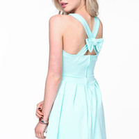 Bow Criss Cross Skater Dress - LoveCulture