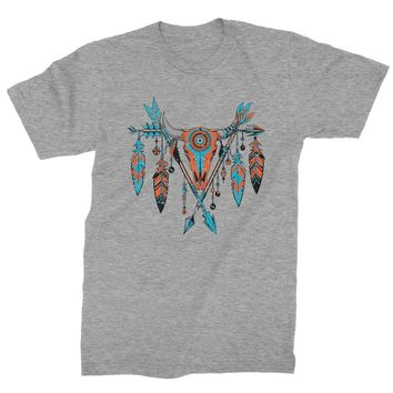 Native American Cattle Skull Southwest Mens T-shirt