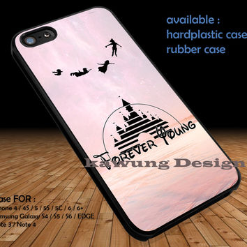 Peter Pan Forever Young DOP124 case/cover for iPhone 4/4s/5/5c/6/6+/6s/6s+ Samsung Galaxy S4/S5/S6/Edge/Edge+ NOTE 3/4/5 #cartoon #disney #animated #peterpan #movie