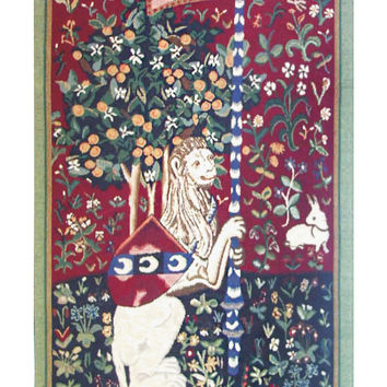 Portiere du Lion Tapestry Wall Art Hanging