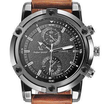 Watches Luxury V6 Brand Watches Clock Stylish Oversize Steel Dial Relogio Masculino Casual