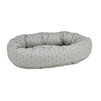 Micro Jacquard Donut Bolstered Dog Bed — Milky Way