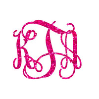 Glitter Monogram Iron On, Monogram Iron On Transfer, Iron On Letters, Glitter Vinyl, Heat Transfer Monogram
