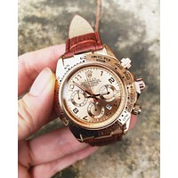 Rolex New fashion casual business sport movement couple watch wristwatch
