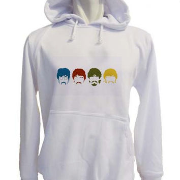 the beatles logo Hoodie Sweatshirt Sweater white variant color for Unisex size