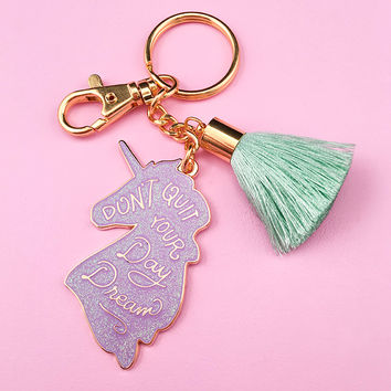 Unicorn Day Dreams Keychain