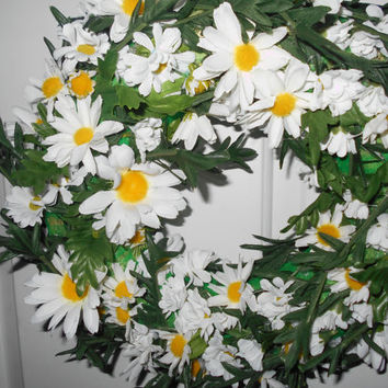 Mother's Day Wreath-Floral Wreath-Daisy Wreath-Outdoor Wreath-Indoor Wreath-Spring Wreath-Summer Wreath-Year Round Wreath